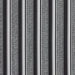 Black and Silver Contemporary Tweed Striped Upholstery Fabric By The Yard - This upholstery fabric is uniquely designed with metallic thread woven through parts of the pattern. This fabric is very durable, and is great for indoor upholstery, window treatments, drapery and bedding. Woven polyester is fade resistant, and easy to clean.
