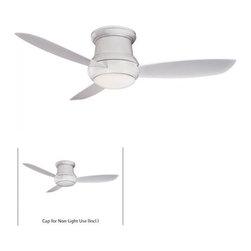 "MinkaAire - MinkaAire Concept II - Outdoor 3 Blade 52"" Flushmount Outdoor Ceiling Fan - Ligh - MinkaAire Concept II Wet F574 Flushmount Ceiling FanFeatures:"