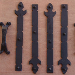 Decorative hinges and straps -
