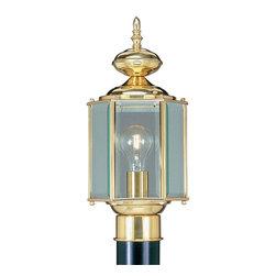 Livex Lighting - Livex Lighting 2117-02 Outdoor Basics Post Mount Polished Brass - -Finish: Polished Brass