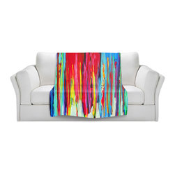 DiaNoche Designs - Throw Blanket Fleece - Neon Abstract - Original Artwork printed to an ultra soft fleece Blanket for a unique look and feel of your living room couch or bedroom space.  DiaNoche Designs uses images from artists all over the world to create Illuminated art, Canvas Art, Sheets, Pillows, Duvets, Blankets and many other items that you can print to.  Every purchase supports an artist!