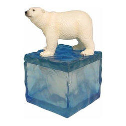 WL - 5.5 Inch Polar Bear on Ice Box Collectible Candle Holder Figurine - This gorgeous 5.5 Inch Polar Bear on Ice Box Collectible Candle Holder Figurine has the finest details and highest quality you will find anywhere! 5.5 Inch Polar Bear on Ice Box Collectible Candle Holder Figurine is truly remarkable.