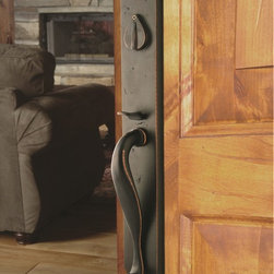 Sure-loc - Sure-Loc Rustic Bronze Entry Handleset - The Wasatch front-door handleset is a strong,durable,vintage bronze handleset that will add an impressive presence to any home.