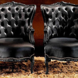 ELYSEE ARMCHAIRS - Amazing armchair with smoked treatment effect, white matt lacquered.