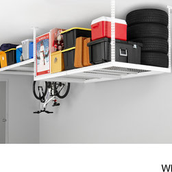 Newage Products - NewAge Products Adjustable Width Ceiling Storage Rack - This large heavy-duty ceiling storage rack features 104 cubic feet of storage with 600 pounds of storage weight. Two sizes within one great rack,this storage rack has dual size configurations of six and eight feet.