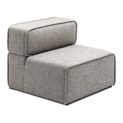 Bryght - Acura Lounge Chair - The Acura Collection looks perfect in a modern home with its firm yet comfortable foam filling and sophisticated grey upholstery. The Acura can be easily customized to your needs which makes it great for small and large spaces alike.
