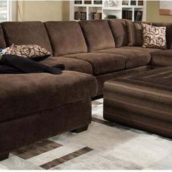 Chelsea Home - 3-Pc Sectional Sleeper Sofa Set - Includes right facing one arm sofa, left facing chaise and queen armless sleeper with toss pillows. Ottoman not included. Rhino beluga cover. Medium seating comfort. Reversible seat cushion. Nailed, stapled and corner blocked frame. Fabric content: 100% poly. Cushion has 1.8 density and 28-30 lbs. PSI compression. 8-gauge flat sinuous springs. Made from solid hardwoods and plywoods. Made in USA. No assembly required. Seat: 133 in. - 69 in. W x 55 in. D x 24 in. H. Right facing sofa: 102 in. L x 43 in. W x 28 in. H. Left facing chaise: 60.5 in. L x 43.5 in. W x 28 in. H. Armless sleeper: 78.5 in. L x 43 in. W x 28 in. H. Overall: 165.5 in. L x 60.5 in. W x 28 in. H (550 lbs.)
