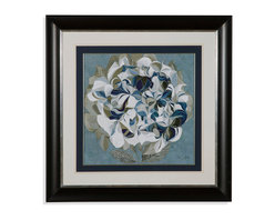 Bassett Mirror - Bassett Mirror Framed Under Glass Art, Elegant Hydrangeas II - Elegant Hydrangeas II