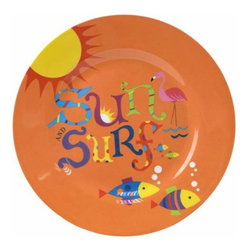 "WL - 7 Inch Orange ""Sun and Surf"" Tropical Motif Dining Ware Lunch Plate - This gorgeous 7 Inch Orange ""Sun and Surf"" Tropical Motif Dining Ware Lunch Plate has the finest details and highest quality you will find anywhere! 7 Inch Orange ""Sun and Surf"" Tropical Motif Dining Ware Lunch Plate is truly remarkable."