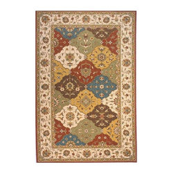 Momeni - Patchwork Inspired New Zealand Wool Rug - Persian Garden PG-11 (3.0 ft. x 5.0 ft - Choose Size & Shape: 3.0 ft. x 5.0 ft. Rectangle. Power loomed. Space-dyed yarn. 100% New Zealand Wool. Care InstructionInspired by the rarest Persian Antique pieces, Persian Garden is a unique collection of power-loomed rugs that evoke a sense of the past in modern-day colors and interpretations. These rugs feature an abrash effect and hand-serged edges for a quality finish.