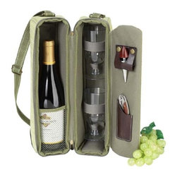 Picnic at Ascot - Hamptons Wine Carrier for 2 - Features: