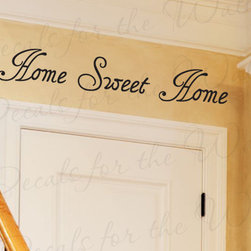 Decals for the Wall - Wall Decal Quote Sticker Vinyl Art Lettering Decorative Home Sweet Home H16 - This decal says ''Home sweet home''