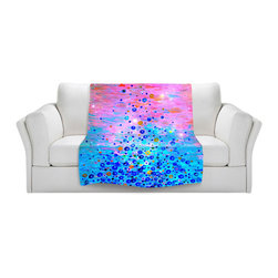 DiaNoche Designs - Throw Blanket Fleece - What Goes Up Revisited - Original Artwork printed to an ultra soft fleece Blanket for a unique look and feel of your living room couch or bedroom space.  DiaNoche Designs uses images from artists all over the world to create Illuminated art, Canvas Art, Sheets, Pillows, Duvets, Blankets and many other items that you can print to.  Every purchase supports an artist!