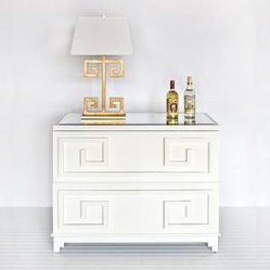 White Lacquer Two Drawer Chest
