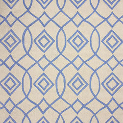 nuLOOM - Transitional 5' x 8' Blue Hand Hooked Area Rug Trellis BC66 - Made from the finest materials in the world and with the uttermost care, our rugs are a great addition to your home.