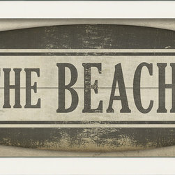 "The Artwork Factory - ""To The Beach"" Sign Print - Surf's up. Whether you're near the coast, or in a coastal state of mind, this funky print will add a beachy feeling to any room in your shack. It comes framed and ready to hang ten on your wall."