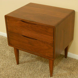 2 Drawer Danish Modern Nightstands - Danish Modern Nightstand (Item # 2D637)