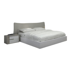 "Creative Furniture - ""Creative Furniture"" Solo Modern Grey and White Bed - Features:"