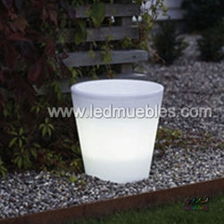 Colorful Lighting Plastic Flower Pot - 1. Waterproof,PE material