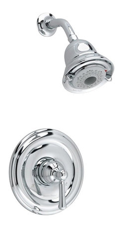 American Standard - Portsmouth Shower Faucet with Round Escutcheon in Polished Chrome - American Standard T420.501.002 Portsmouth Shower Faucet with Round Escutcheon in Polished Chrome.