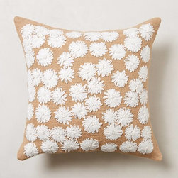 Looped Petals Pillow - I love the idea of bringing in more florals in a neutral tone, just like the ones on this throw pillow.