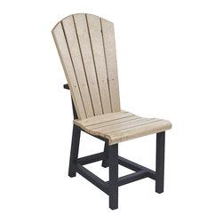 C.R. Plastic Products - C.R. Plastics Addy Dining Side Chair In Two Tone - C.R. Plastics Addy Dining Side Chair In Two Tone