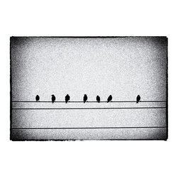 sheet music Artwork - Birds on a wire. This photograph is printed on archival lustre paper.