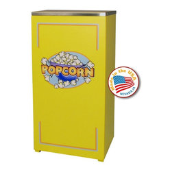 Paragon - Paragon Yellow Cineplex Stand Multicolor - 3080850 - Shop for Popcorn Makers from Hayneedle.com! Movie theater candy has made a valiant attempt to convince us that it's an essential part of the moviegoing experience but like you the Paragon Yellow Cineplex Stand is nice enough to not tell it that it'll never beat popcorn and nothing will ever change that. Everyone will have to agree when they line up in front of this versatile stand. Inside the body of commercial-grade steel you'll have a pair of shelves for storage and a wrap-around door with a magnetic latch and welded hinges give you easy access while maintaining an orderly appearance. Adjustable feet let you get a level and balanced surface on any terrain.About ParagonBrevity and industriousness are classic Midwestern traits and for 45 years Paragon has lived up to their name with a simple motto Don't be the largest be the best. Based in Iowa this family-owned manufacturer specializes in creating and distributing the finest concession equipment on the market. Focusing on quality workmanship and employing the latest technology they were the first to introduce the 4-ounce popcorn popper. They focused on being the best and not the largest but that attitude has grown them to one of the largest concession manufacturers around distributing a full line of products that include sno-cone equipment cotton candy machines and their full line of classic popcorn poppers to 43 countries.