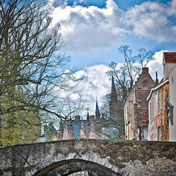 Bridge Over Water-Brugge Belgium, Fine Art Photography Print, 8X12 - This photo was taken in Brugge, Belgium April 2012.  This is an amazing town, quaint and has that old feeling.  I was on a boat tour when i took this picture. There are small waterways that run through the town!