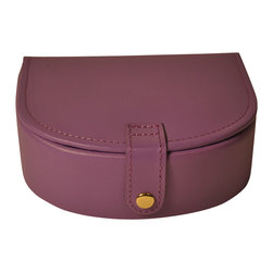 Budd Leather - Leather Small Bow Front Jewel Box, Purple - Leather Small Bow Front Jewel Box  Purple