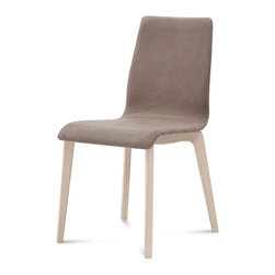Domitalia - Jude-L Chair, Taupe - Ashwood Frame
