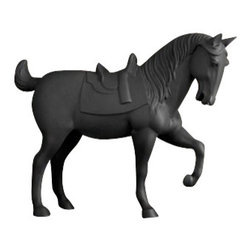 """L'Objet - L'Objet Library Horse Black Limited Edition Large Sculpture - L'Objet is best known for using ancient design techniques to create timeless, yet decidedly modern serveware, dishes, home decor and gifts. Limited Edition of 100Limoges PorcelainMeasurements: 28"""" x 22"""" Luxuriously Gift Boxed"""