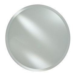 Radiance Frameless Round Vanity / Wall Mirror - The Radiance Frameless Round Vanity / Wall Mirror is the perfect way to offer space and depth to any bathroom bedroom foyer or hallway. Its clean contemporary look features a frameless beveled edge design that is offered in 18 or 24-inch sizes. Hang on any wall with the included hanging hardware.Mirror Dimension options:18-inch diameter24-inch diameterAbout AfinaAfina Corporation is a manufacturer and importer of fine bath cabinetry lighting fixtures and decorative wall mirrors. Afina products are available in an extensive palette of colors and decorative styles to reflect the trends of a new millennium. Based in Paterson N.J. Afina is committed to providing fine products that will be an integral part of your unique bath environment.