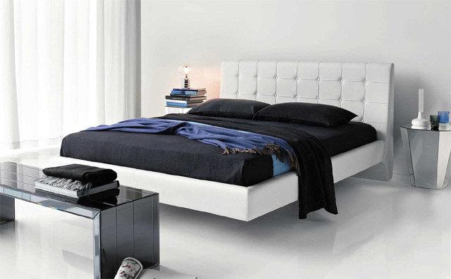 Modern Beds Franklyn Designer Leather Bed By Cattelan Italia
