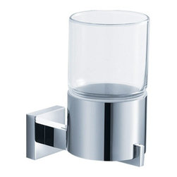 Kraus - Kraus Aura Wall-Mounted Glass Tumbler Holder - Add a touch of elegance to your bathroom with a stylish Wall-mounted Glass Tumbler Holder from Kraus.