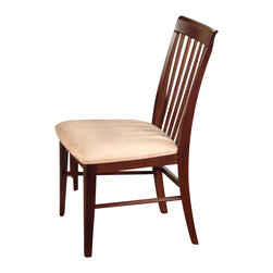 Atlantic Furniture - Atlantic Furniture Montreal Oatmeal Fabric Side Chair (Set of 2)-Caramel Latte - Atlantic Furniture - Dining Chairs - AD774107 - The Atlantic Furniture Montreal Dining Side Chairs are constructed from Eco-friendly solid hardwood and have an elegant wood finish. This set of two dining side chairs feature a vertical slat back design and an Oatmeal colored seat cushion. The Montreal Dining Side Chairs are perfect for a casual dining room setting.