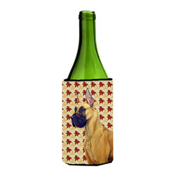 Caroline's Treasures - Great Dane Fall Leaves Portrait Wine Bottle Koozie Hugger - Great Dane Fall Leaves Portrait Wine Bottle Koozie Hugger Fits 750 ml. wine or other beverage bottles. Fits 24 oz. cans or pint bottles. Great collapsible koozie for large cans of beer, Energy Drinks or large Iced Tea beverages. Great to keep track of your beverage and add a bit of flair to a gathering. Wash the hugger in your washing machine. Design will not come off.