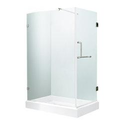 """VIGO Industries - VIGO 36 x 48 Frameless 3/8"""" Clear/Chrome Shower Enclosure - Update your bathroom with this unique VIGO, stylish and totally frameless rectangular shape shower enclosure"""