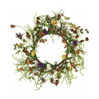 """Oddity - Oddity 6"""" Everyday Design Mum Candle Ring Pack 2 - Brilliantly selected faux flowers, leaves and ropes style this collection that will give new meaning to everyday and will not only coordinate with any decor, it will """"fit into"""" any seasonal style."""