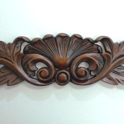 "O'Neil Chocolate Decorative Acanthus Design Onlay - O'NEIL CHOCOLATE, DECORATIVE ONLAY 4 1/4""W X 19 1/2""L,"