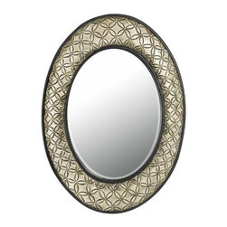CAL Lighting - CAL LIGHTING WA-2151MIR  Sartene Oval Polyurethane Frame Mirror with Beveled Gla - SARTENE OVAL PU BEVELED MIRROR