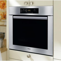 """Miele 30"""" Oven - This is a great 30"""" single oven by Miele.  It features electronic temperature control, true Euorpean convection, and two zone infrared broiling, plus a classic oven design with a steel finish."""