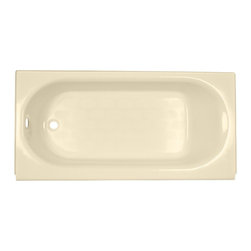 American Standard - Princeton 30 inch x 60 inch Integral Apron Tub in Bone - American Standard 2392.202.021 Princeton 30 inch x 60 inch Integral Apron Tub in Bone. A recessed bath with an integral apron and tiling flange, the American Standard Princeton 5 ft. Americast Bathtub in Bone is built from durable and lightweight material that has great temperature-insulation qualities. The integral lumbar support and beveled headrest provide comfort while you bathe, and the slip-resistant floor promotes safety.American Standard 2392.202.021 Princeton 30 inch x 60 inch Integral Apron Tub in Bone, Features:Durable Americast material is lightweight for easy installation