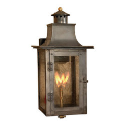 """Elk Lighting - Elk Lighting 7913-WP Maryville 20 Inch Tall Outdoor Wall Mounted Gas Lantern - Elk Lighting 7913-WP Maryville 20 Inch Tall Outdoor Wall Mounted Gas LanternImpress your guests with the Maryville 20"""" tall wall mounted gas lantern. Featuring a somewhat rustic utilitarian design with a sloped four sided roof and round perforated chimney with a cone shaped lid and decorative brass ball finial, the Maryville emits a beautiful flame adjustable using the included brass knob.Elk Lighting 7913-WP Features:"""