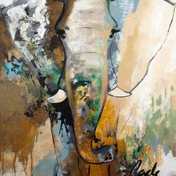 "SCANDINAVIAN ART FACTORY - LARGE ARTWORK - NAME- ""ELEPHANT TOUCH"""