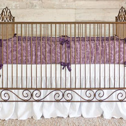Home Decorators Collection - Casablanca Crib - The streamlined rails of our iron Casablanca Crib are offset by elegant scrolled details at the head, foot and base. Handcrafted, this heirloom-quality baby crib offers simplicity and sophistication for your nursery. Hand-bent wrought iron in powder-coated, hand-distressed finish. Mattress adjusts to three different heights.