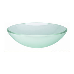 "WS Bath Collections - Acquaio 53696.91 Glass Sink 16.7"" - This curvy bowl-shaped washbasin is so pretty you'll want to make sure every guest has a chance to visit your powder room. Made in Italy, it comes in several sizes and a virtual rainbow of colors from pale blue to red, black, white and even silver and gold leaf."