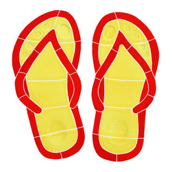 "Glass Tile Oasis - Small Red Flip Flops Pool Accents Red Pool Glossy Ceramic - Sheet size:  10"" x 10""        Tile thickness:  1/4""        Sheet Mount:  Mesh Backed    Sold by the piece       -  We offer six lines of in-stock designs ready for immediate delivery including: The Aquatic Line  The Shadow Line  The Hang 10 Line  The Medallion Line  The Garden Line and The Peanuts® Line.All of the mosaics are frost proof  maintenance free and guaranteed for life.Our Aquatic Line includes: mosaic dolphins  mosaic turtles  mosaic tropical and sport fish  mosaic crabs and lobsters  mosaic mermaids  and other mosaic sea creatures such as starfish  octopus  sandollars  sailfish  marlin and sharks. For added three dimensional realism  the Shadow Line must be seen to be believed. Our Garden Line features mosaic geckos  mosaic hibiscus  mosaic palm tree  mosaic sun  mosaic parrot and many more. Put Snoopy and the gang in your pool or bathroom with the Peanuts® Line. Hang Ten line is a beach and surfing themed line featuring mosaic flip flops  mosaic bikini  mosaic board shorts  mosaic footprints and much more. Select the centerpiece of your new pool from the Medallion Line featuring classic design elements such as greek key and wave elements in elegant medallion mosaic designs."