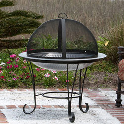 Fire Sense Stainless Steel Cocktail Fire Pit - Create the perfect silhouette for your outdoor fire with the Fire Sense Stainless Steel Cocktail Fire Pit. -Mantels Direct
