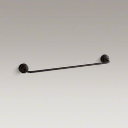 """KOHLER - KOHLER Fairfax(R) 24"""" towel bar - Featuring soft curves and a unique form, Fairfax accessories bring a sophisticated, elegant design to your bath or powder room. This towel bar complements Fairfax faucets to create a coordinated look for your space."""